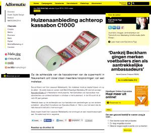 Adformatie - Huizenaanbieding achterop kassabon C1000 - 5-6-2014 - www.kassabondeals.nl
