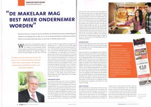 De makelaar mag best meer ondernemer worden Vastgoed Adviseur augustus 2014 Cees Kooijman Groenendeal - Makelaardij - KassabonDeals.nl
