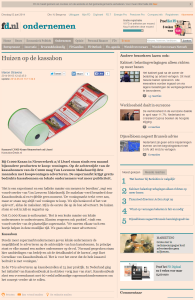 Financieel Dagblad - Huizen op de Kassabon - 3-6-2014 - www.KassabonDeals.nl
