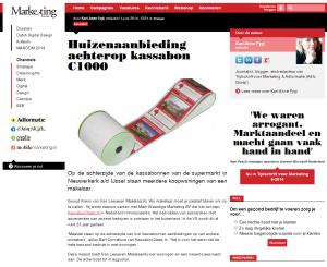 Marketingonline - Huizenaanbieding achterop kassabon C1000 - 5-6-2014 - www.KassabonDeals.nl
