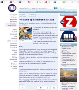 NU - Reclame op kassabon slaat aan - 6-6-2014 - www.KassabonDeals.nl