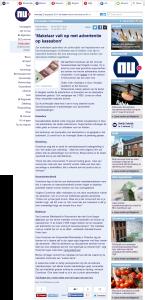 Nu.nl - makelaar valt op met advertentie op kassabon - 30-07-2014 - www.KassabonDeals.nl