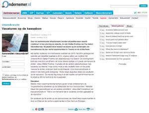 deOndernemer.nl - Vacatures op de kassabon - 13-8-2015 - www.kassabondeals.nl