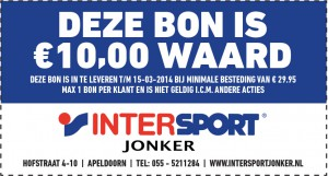 Kassabon advertentie Intersport Jonker